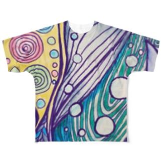 くじら🐳くじら Full graphic T-shirts