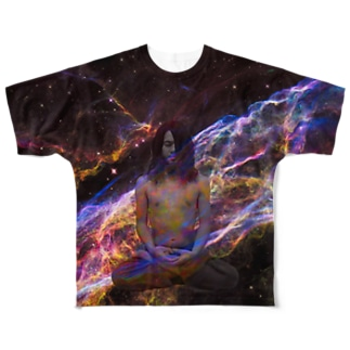 space yoga Full graphic T-shirts