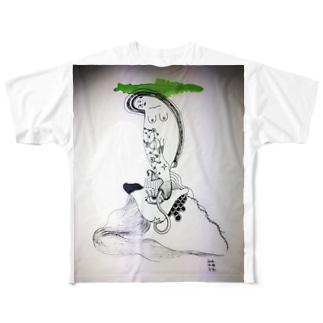 水瓶座のおんな Full graphic T-shirts
