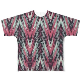 オルテガ柄G Full graphic T-shirts