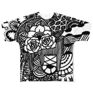 薔薇の手引き Full graphic T-shirts
