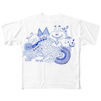ツユドキモンスター Full graphic T-shirts