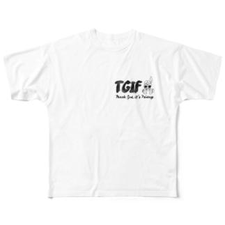"""スラングT """"TGIF"""" Full graphic T-shirts"""