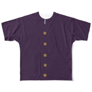 ガクラン Full graphic T-shirts