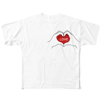 LOVE Full graphic T-shirts