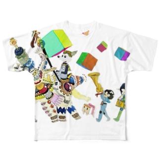 もりもりくん Full graphic T-shirts