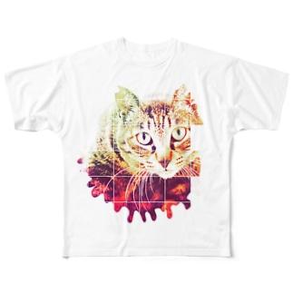日曜猫 Full graphic T-shirts