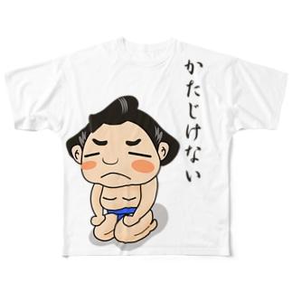 TokyoSienneの「かたじけない🙇♂️ 」〜どすこい!気ままに相撲ライフ〜 Full Graphic T-Shirt