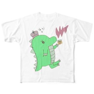 恐竜のきぃくん Full graphic T-shirts