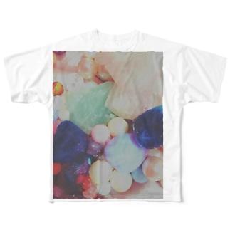 ぱわーのすとーん Full graphic T-shirts