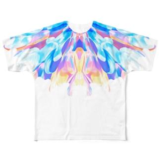 ドリームバタフライ Full graphic T-shirts