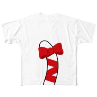 猫になれるTシャツ(白猫ver) Full graphic T-shirts