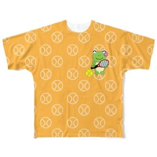 テニス×かえるさん Full graphic T-shirts