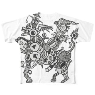 廃棄ペガサス Full graphic T-shirts