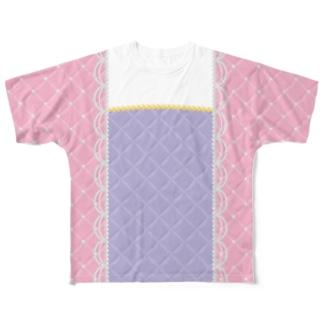 パールのドレス ピンク Full graphic T-shirts