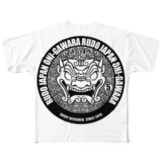 RUDO JAPAN 鬼瓦 Full graphic T-shirts