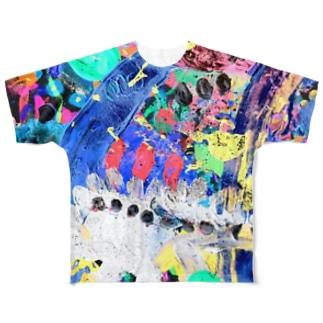 家出したゴジラの帰宅 Run-away Godzilla Came Back Home All-Over Print T-Shirt
