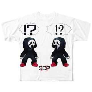 ホラフキンカゲアソビ Full graphic T-shirts