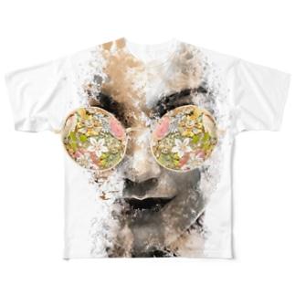 HANAGARA Full graphic T-shirts