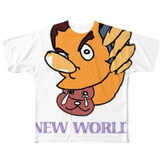 プロゴル〇ァーーッ!!!SAL NEWWORLDORDER Full graphic T-shirts