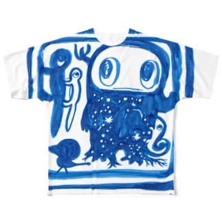 ミズホドリの四角い旅 Full graphic T-shirts