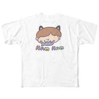はむはむ Full graphic T-shirts
