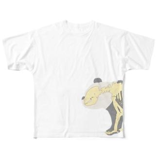 パンダさん 両面 Full Graphic T-Shirt