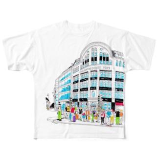Berlinシリーズ「信号待ち」 Full graphic T-shirts