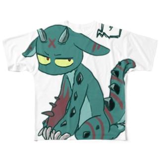 みどりのかいぶつ Full graphic T-shirts