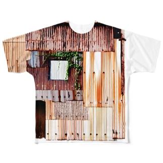トタンパッチワーク Full graphic T-shirts