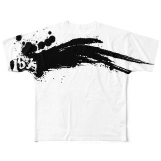 16sysOriginalブラシペイントパターングラフィックTシャツ Full graphic T-shirts
