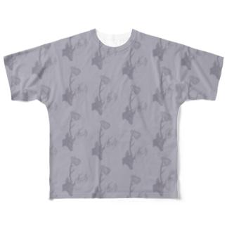 deers(パープル) Full graphic T-shirts
