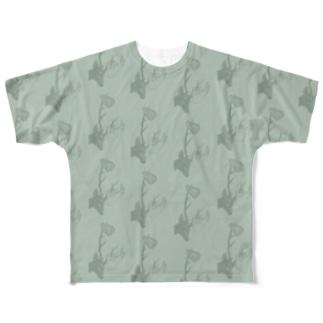 deers(グリーン) Full graphic T-shirts
