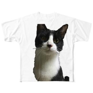 あいむ あ ぱーふぇくと にゃんこ Full graphic T-shirts