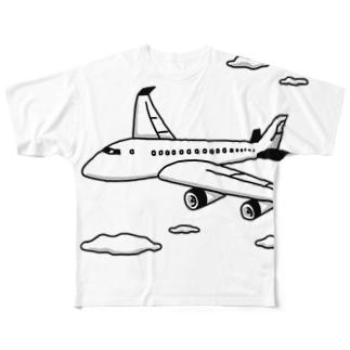 ジャンボジェット機 Full graphic T-shirts