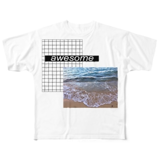 awesome🌊 Full graphic T-shirts