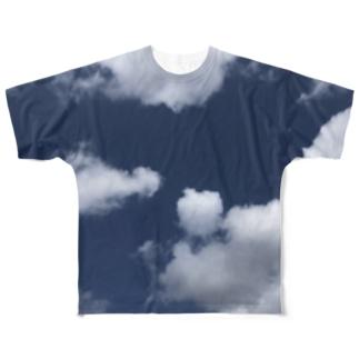 天然の青空Tシャツ Full graphic T-shirts