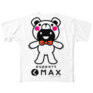 support(く)MAX whole body Full graphic T-shirts