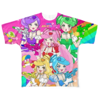 出張!スーパーハイパーギャラクシーショップヨタのマジカルポップスペースフローリアビックTシャツ Full graphic T-shirts