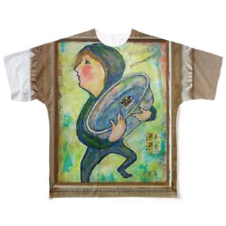 たらいまわし Full graphic T-shirts