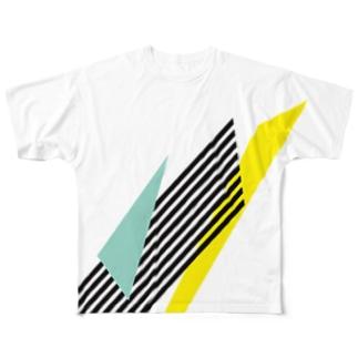ラインライン Full graphic T-shirts
