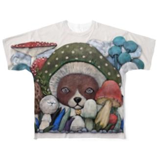 きのこ(フルグラフィック) Full graphic T-shirts