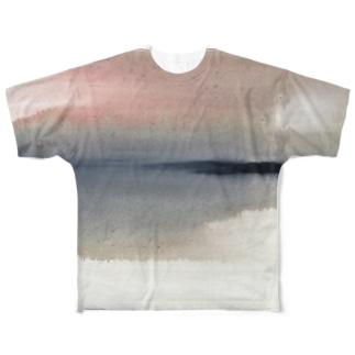 果て Full graphic T-shirts