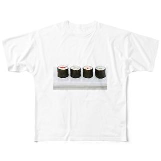 巻き寿司 Full graphic T-shirts