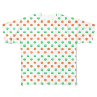 Orange and Melon MIX (small) Full graphic T-shirts