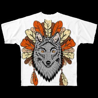 ネイティブ柄専門ショップのネイティブ柄D Full graphic T-shirts