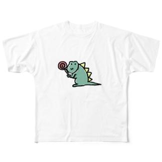 カエルくん Full graphic T-shirts