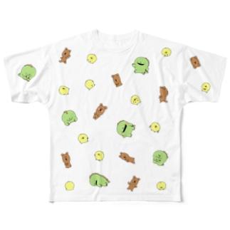 ひよこくまイグアナいっぱい Full Graphic T-Shirt