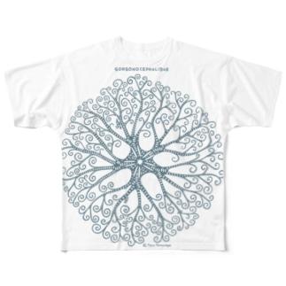 テヅルモヅルlightcolor Full graphic T-shirts