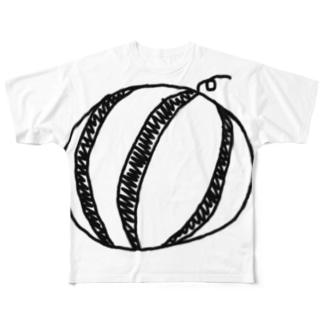 スイカ Full graphic T-shirts